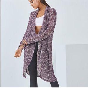 NWOT Fabletics Purple Moscow Wrap Long Cardigan